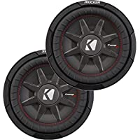 Kicker Bundle of 2 items: Two 43CWRT101 10 CompRT Series Car Subwoofers