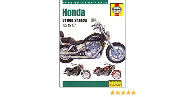 amazon com 1985 2007 honda shadow vt 1100 spirit aero sabre haynes rh amazon com 2007 honda shadow 600 owners manual 2007 honda shadow owners manual download