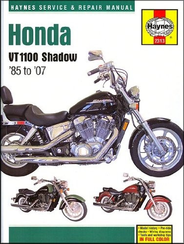 amazon com 1985 2007 honda shadow vt 1100 spirit aero sabre haynes rh amazon com 2007 honda shadow 600 owners manual Honda Owners Manuals Specs