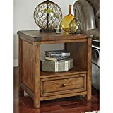 Signature Design by Ashley T830-2 Tamonie Square End Table, Medium Brown