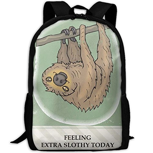SDEYR79 Sloth Clip Art Free Clip Art Interest School Rucksack College Bookbag Unisex Travel Backpack Laptop Bag ()
