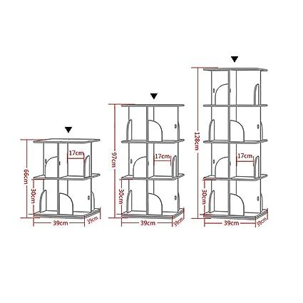 QSJYbookshelf 360 /° Drehregal B/ücherregal Regal B/ücherregal Platte Multi-Layer-Landung gr/ö/ße : 2