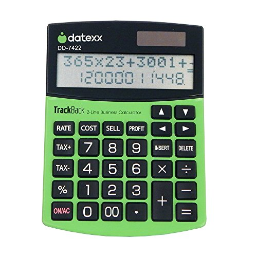 UPC 767469427426, Datexx 2-Line TrackBack Business Slim Desktop Calculator, DD-7422