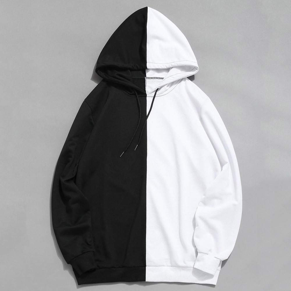 Amazon.com: Fashion Mens Hoodies, Casual Color Block Patchwork Hooded Tops Loose Hip-Hop Style Boys Outwear: Clothing