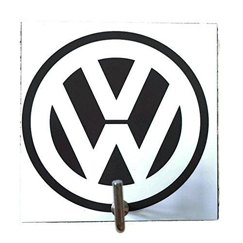 Agility Bathroom Wall Hanger Hat Bag Key Adhesive Wood Hook Vintage Black Volkswagen Logo's Photo