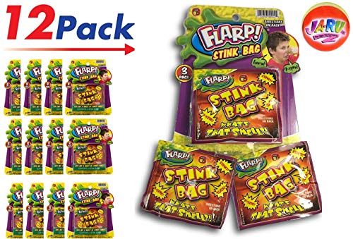 2CHILL Stink Bag by Flarp Ugly Farrrt Smelling Prank (36 Bags in 12 Packs) Prank Joke Stinky Smelly Toy | Item #44-12p (Best Summer Camp Pranks)