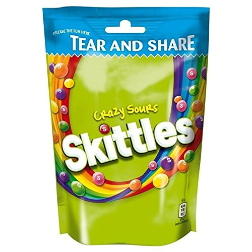 Skittles Crazy Sours Pouch 174g - Pack of 6
