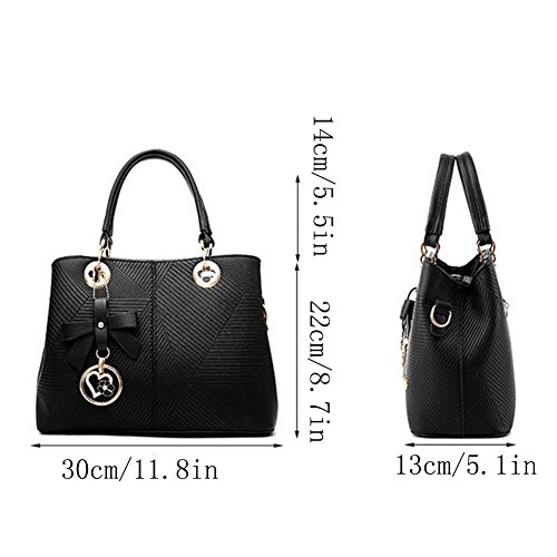 Shopping Tote Shoulder Handbag Women Bag Black Women's Bags Bag Bag Handbags Shoulder Bag Bags Fashion Clutches Women Leather 1fnO0