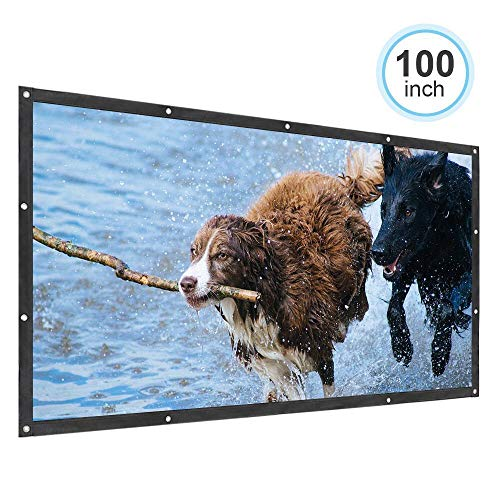 Portable 100 PVC Projector Screen for Home Theater Entertainment of Movies Video Games