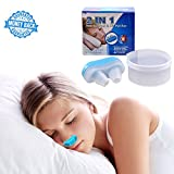 Anti-Snoring Nose Vent Instant Help for Natural Snore Relief and Improve Breathing Soft Silicone Air Purification (Blue)