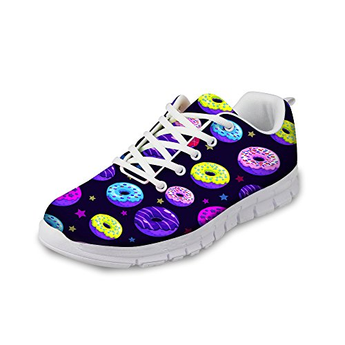 Funny Donut Pattern Casual Women's Sneakers Lightweight Running Shoes by Micandle