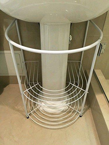 Pedestal Sink Towel Rack - 5