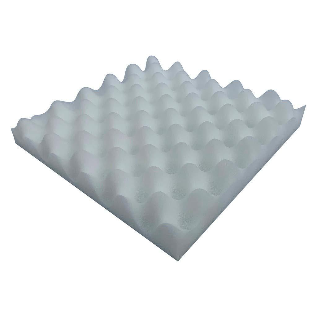 EOWEO Wallpaper,Acoustic Foam Panel Sound Stop Absorption Sponge Studio KTV Soundproof(25x25x4cm,White)