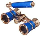 Levenhuk Broadway 325L Blue Wave Lorgnette Opera Glasses - Theater Binoculars with Extendable Handle