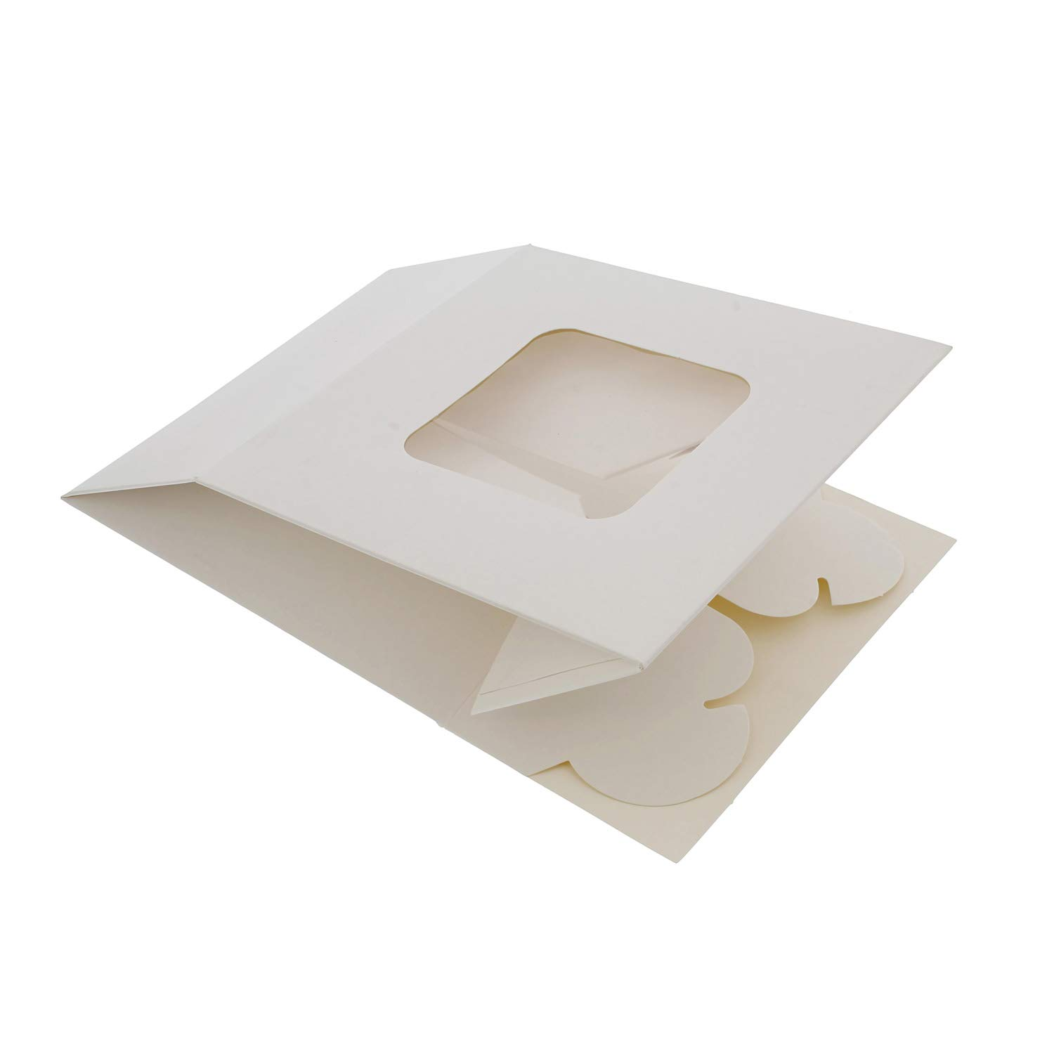 SpecialT White Bakery Boxes with Window, 200pk - 6'' x 6'' Inch Cake Boxes, Party Favor Boxes, Candy Boxes, Dessert Boxes by SpecialT (Image #6)