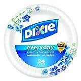 Dixie Heavy Duty Plates 10 1/16 inch Meadow Breeze Pattern 24.0 ea(pack of 2) by Dixie