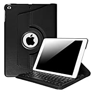 Fintie iPad 9.7 inch 2017 / iPad Air Keyboard Case - 360 Degree Rotating Stand Cover with Built-in Wireless Bluetooth Keyboard for Apple New iPad 9.7 inch 2017 / iPad Air (2013 Model), Black