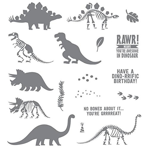 Dinosaur Transparent Stamp - 1 Piece Dinosaur Transparent Clear Stamp For Scrapbooking Card Making Photo Album - Monogram Embroidery Stamp