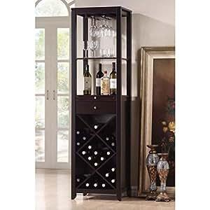 Amazon Com Baxton Studio Austin Wood Modern Wine Tower