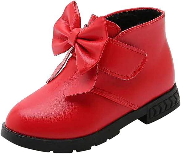 KUKICAT Soldes Baby Girl Boots CuirHiver en Bottes Bottine 8wOXn0ZNPk