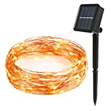 #8: Outdoor Solar String Lights - Flight 32FT 100 LED Waterproof Copper Wire Fairy Light Indoor Decorative Ambiance Lighting for Christmas Tree, Gardens, Party, Wedding, Camping, Pool (Warm White)