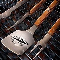 NHL Minnesota Wild 3PC BBQ Set, Heavy Duty Stainless Steel Grilling Tools