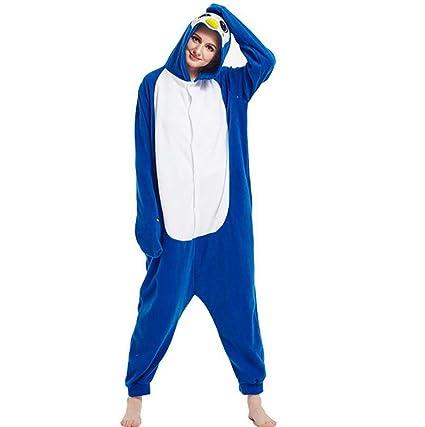 HSTV Pijamas Animales Cosplay Disfraz Unisexo Halloween Cosplay Pingüino Azul Fiesta Ropa De Dormir,XL