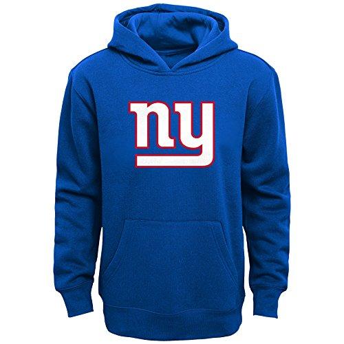 NFL Boys 8-20 Primary Logo Fleece Hoodie,New York Giants,Royal,Small ()