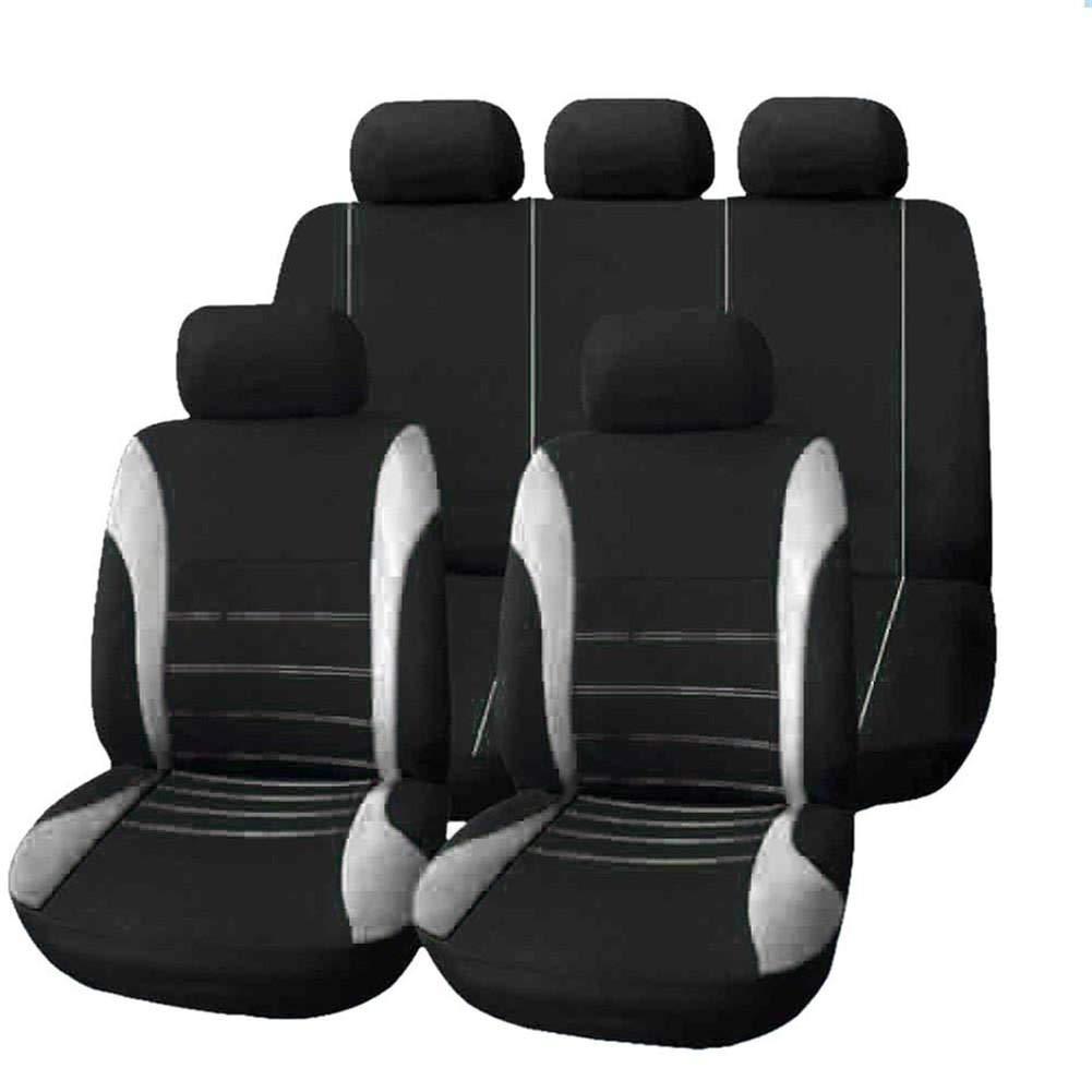 Globalqi Autositzbezug Vier Jahreszeiten universal Bequem Stoffkissen 9-teiliges Set