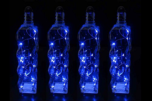 Light My Bottle String LED Lighting Accessory Stick, Blue (4 pack)- Transform Ordinary Empty Bottles into Beautiful works of Art- Fits Bottles Taller than 9 inches