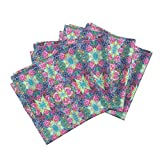 Roostery Lotus Flower Linen Cotton Dinner Napkins Like In India Pastel Medium by Paysmage Set of 4 Cotton Dinner Napkins made by