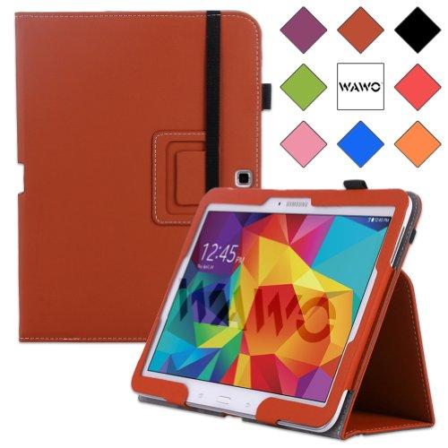 WAWO Samsung Galaxy Tab 4 10.1 Inch Tablet Smart Cover Creative Folio Case (Brown) (Tab Samsung Galaxy 4 3g)