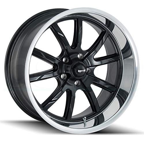 - Ridler 650 Matte Black/Polished Lip Wheel with Machined Finish (18 x 8. inches /5 x 127 mm, 0 mm Offset)