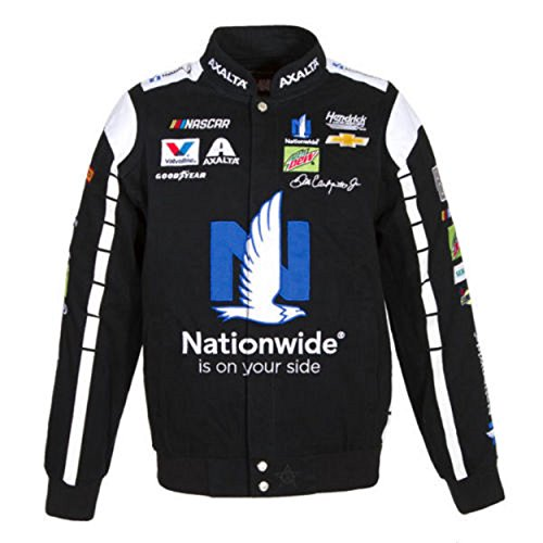 Dale Earnhardt Jr. Nationwide NASCAR Black Jacket Size Large