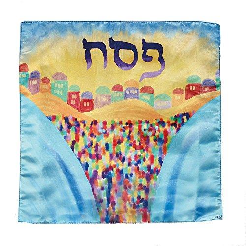 - Satin Passover Matzah Cover - Splitting of the Sea