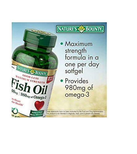 Nature's Bounty Fish Oil 1400 Mg., 130 Softgels by Nature's Bounty B01J4TKD40