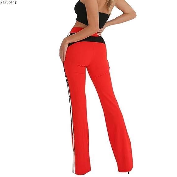 Zarup♥♥♥Pantalones de Pierna Ancha con Aberturas en los Laterales ... 33132c4ddd4