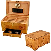 Humidors-Luxury Collection- Exotic High Piano Gloss Birdseye Maple Burl Exterior