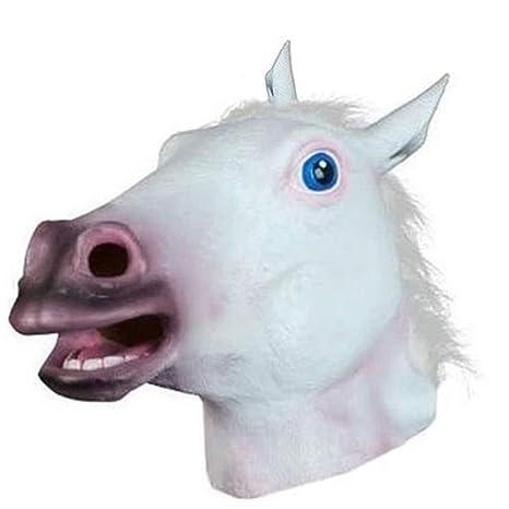 Tulas - Máscara de silicona para disfraz de caballo de Halloween, látex, goma,