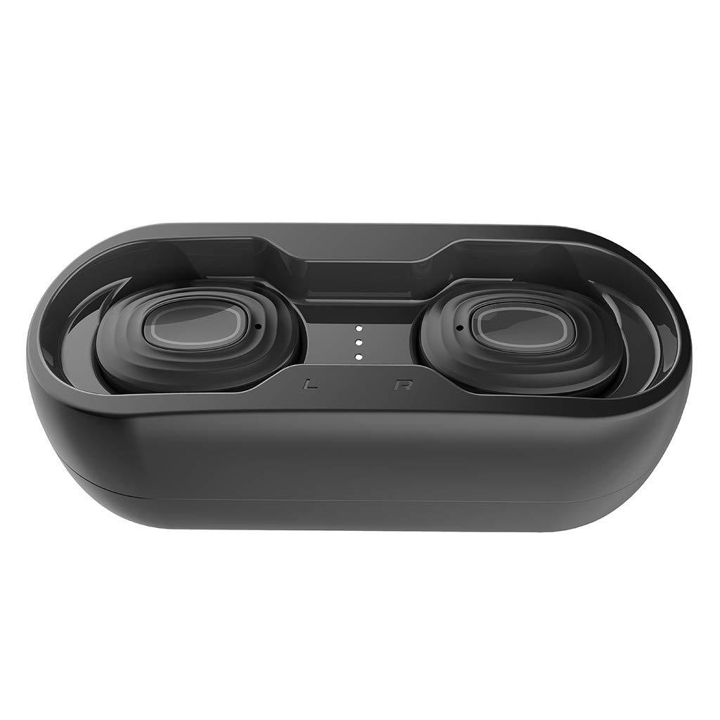 True Wireless Earbuds Bluetooth 5.0 Headphones in-Ear Stereo Wireless Earphones Black