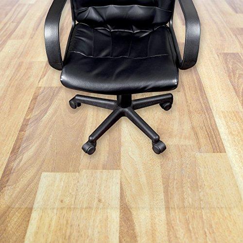 Transparente Bodenschutzmatte in zahlreichen Größen | passgenauer Schutz von Hartböden | Unterlegmatte unter Bürostühle, Fitnessgeräte etc. (100x110cm)