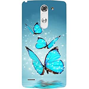 casotec Flying diseño de mariposas funda trasera rígida para LG G3Stylus D690