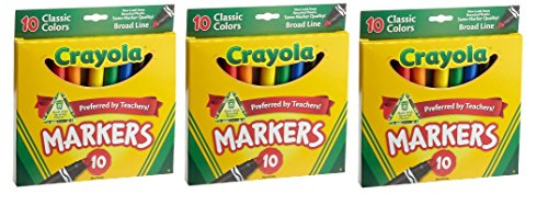 Crayola 10ct Classic Broad Markers