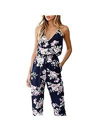 Women Boho Strap Sleeveless Casual Wide Long Pants Jumpsuit Romper S-3XL