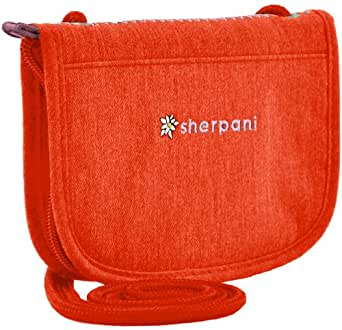 Sherpani Zoe Cross Body Wallet, Mandarin, One Size