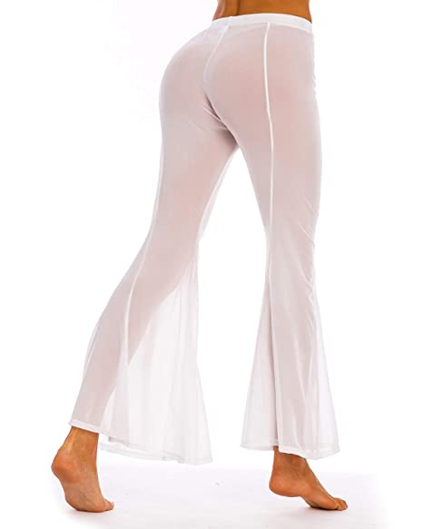 100% authenticated fashionable and attractive package enjoy clearance price Coskaka Women's Beach Pants See Through Sexy Swimsuit Bikini Cover up mesh  Sheer Pants