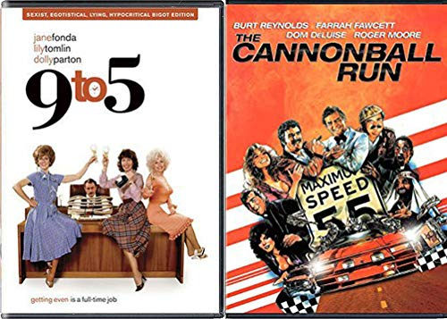 Down Home Fun 9 to 5 Dolly Parton + Cannonball Run Burt Reynolds Movie Double Feature DVD 2 Comedy Funny Favorites Set Bundle