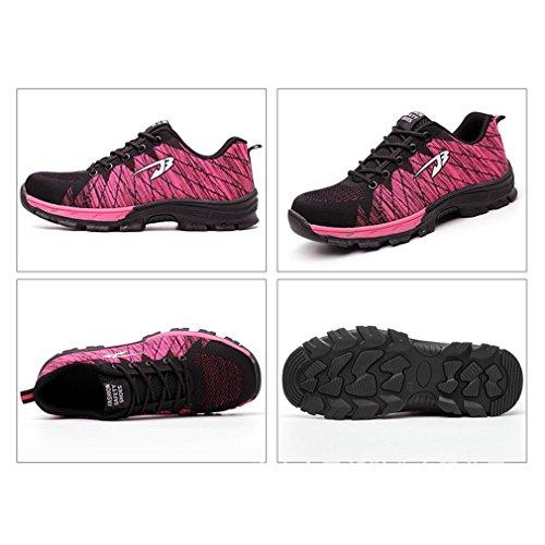 de fáciles Antideslizantes de Verano Dobles Zapatos Zapatos cómodo Pareja Zapatos de Elegante para Transpirables y Rosa Usar fx6wRCq