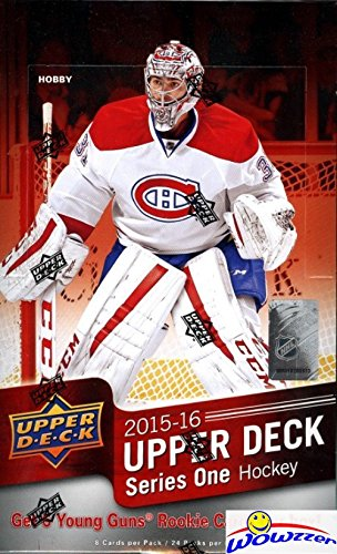2015/16 Upper Deck Series 1 Hockey Factory Sealed 24 Pack HOBBY Box with 192 Cards! Includes 6 Young Guns & Memorabilia Card! Look for Connor McDavid Young Gun ROOKIE worth $300!