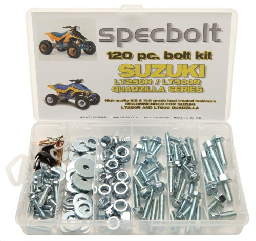 - 120pc Specbolt Suzuki LT250R Quadzilla ATV Bolt Kit for Maintenance & Restoration OEM Spec Fasteners Quadracer LT500R LTR250 LT 250 500 R